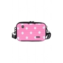 Cute Creative Polka Dot Printed Luggage Box Shape Mini Crossbody Bag 18*5*10 CM