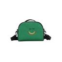 Lovely Cartoon Pattern Canvas Shoulder Bag Crossbody Bag for Children 16*13*7 CM