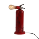 Red Fire Extinguisher Desk Light 1 Light Industrial Edison Bulb Reading Light for Cafe