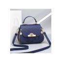 New Fashion Floral Embroidery Thread Double Zipper Side Satchel Shoulder Handbag