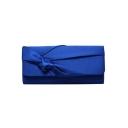 Hot Fashion Solid Color Ruffled Twist Evening Clutch Handbag 25*6*11 CM