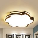 Acrylic Toy Gyro Flush Ceiling Light Kindergarten Lovely Black/White LED Ceiling Lamp in Warm/White