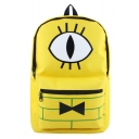 Cute Cartoon Cosplay Printed Large Capacity Yellow School Bag Backpack
