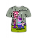 Popular Comic Character Hobby Horse 3D Printed Round Neck Short Sleeve T-Shirt