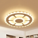 Creative Gear LED Flush Light Acrylic White Ceiling Light in Warm/White for Living Room