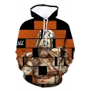 Funny Cool Game Character 3D Printed Long Sleeve Loose Fit Drawstring Hoodie