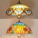 Vintage Stylish Baroque/Sunflower Floor Light 1 Light Stained Glass Floor Lamp for Study Room