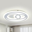 Bedroom Snowman LED Ceiling Fixture Acrylic Third Gear/White Lighting Modern Flush Ceiling Light