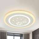 Modern Dots/Flower LED Ceiling Lamp Acrylic Flush Light in Warm/White for Living Room
