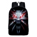 Hot Fashion Cosplay Printed Large Capacity Black Casual Travel Bag School Backpack 29*16*42 CM