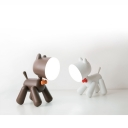 Creative Dog LED Desk Light 1 Head Brown/White Reading Light with USB Charging Port for Bedroom
