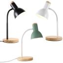 Metal Flexible Gooseneck Desk Light Study Room 1 Light Modern LED Reading Light in Black/Green/White