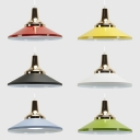 Kitchen Saucer Shade Pendant Lamp Metal 1 Light Nordic Style Macaron Colored Hanging Lamp