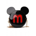 Cute Cartoon Mickey Mouse Shape Crossbody Sling Bag 12*4*12 CM