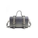 New Fashion Plain Rivet Embellishment Belt Buckle Sequin Satchel Handbag 22*9*13 CM