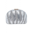 New Fashion Solid Color Sequin Embellishment PVC Buckle Evening Clutch 19*13 CM