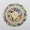 Child Bedroom Dot Bowl Ceiling Lamp Glass 16 Inch Mosaic Multi-Color Flush Ceiling Light