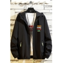 Fashion Popular Letter Everything Will Be Ok Pattern Long Sleeve Zip Up Hooded Sport Jacket Coat