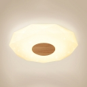 Modern Diamond Shaped Ceiling Mount Light Acrylic Flush Lamp in Warm/White for Living Room