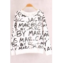 Funny Cool Street Letter Graffiti Print Round Neck Long Sleeve Pullover Casual Sweatshirt