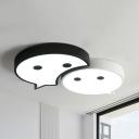 Cartoon 3 Design Choice Ceiling Light Acrylic Warm/White Lighting LED Flush Mount Light for Kid Bedroom