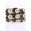 Fashion Classic Floral Embroidery Pattern Evening Clutch Bag 17*5.5*11 CM