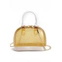 Summer Fashion Plain Transparent Crossbody Satchel Bag 17*6*13 CM