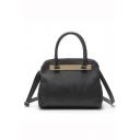 Minimalist Solid Color Black Crossbody Shoulder Bag Handbag for Women 30*14.5*26.5 CM