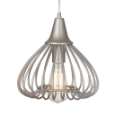 Metal Wire Frame Suspension Light Balcony Foyer 1 Light Traditional Pendant Light in Nickle