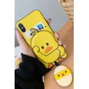 Cute Cartoon Social Yellow Duck Cool Mobile Phone Case for iPhone