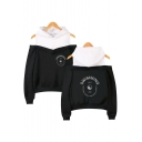 Popular Letter SWIMMING Printed Cold Shoulder Long Sleeve Loose Casual Souvenir Hoodie