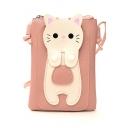 Cute Cartoon Cat Pattern Crossbody Cell Phone Purse 14*2*18 CM