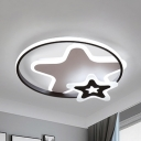 Creative Stars LED Flush Mount Light Acrylic Ceiling Lamp in Warm/White for Nursing Room