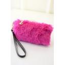 Fashion Solid Color Plush Evening Bag Clutch Purse 20*10*3 CM