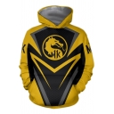 Fashion Dragon Comic Cosplay Costume Yellow and Black Long Sleeve Sport Loose Hoodie