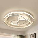 Kid Bedroom Bubble Flush Ceiling Light Acrylic Romantic Stepless Dimming/Warm/White LED Ceiling Fixture