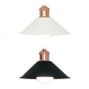 Antique Style Cone Pendant Lamp Iron Single Head Black/White Hanging Light for Dining Table Kitchen