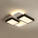 Simple Style Rectangle Flush Mount Light Acrylic LED Ceiling Fixture in Warm/White for Porch