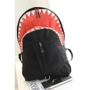 Designer Creative Shark Shape Color Block Large Travel Bag School Backpack 27*7*35 CM