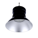 1 Head Dome Bay Lighting 200W Aluminum 200W LED Ceiling Light in Black for Workshop Gallery