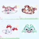 Cartoon Cute Animal LED Flush Mount Light Wood Ceiling Light for Nursing Room Bedroom