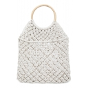 Hot Fashion Large Capacity Plain Straw Beach Bag Portable Tote Bag 39*2*45 CM
