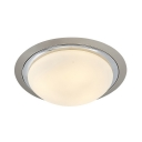 Dome Shade LED Flush Mount Light Modern Frosted Glass Ceiling Lamp with White/Yellow Lighting for Bedroom
