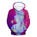 Vaporwave Unique Cool 3D Figure Sculpture Pattern Long Sleeve Unisex Sport Hoodie