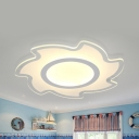 Modern Flowers/Sun Ceiling Light Acrylic Warm/White Lighting LED Flush Mount Light for Kindergarten