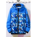 New Trendy Letter Long Sleeve Camo Pattern Outdoor Sport Skin Jacket Sun Protection Hooded Lightweight Jacket Coat
