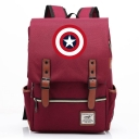 Fashion Large Capacity Star Shield Printed Laptop Bag Casual School Backpack 29*13.5*43 CM