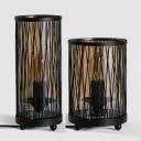 Industrial Candle Desk Light with Cylinder Shade Metal 1 Light Black Desk Lamp for Restaurant Bar