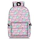 Cute Cartoon Cat Printed Large Capacity School Bag Backpack 28*14*47 CM