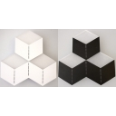 Acrylic Square LED Sconce Light Creative Black/White Wall Lamp in White/Warm for Bedroom Hallway